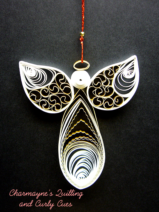 Charmayne S Quilling And Curly Cues Angel Ornaments