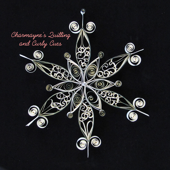 Charmayne's Quilling and Curly Cues: giant quilled snowflakes